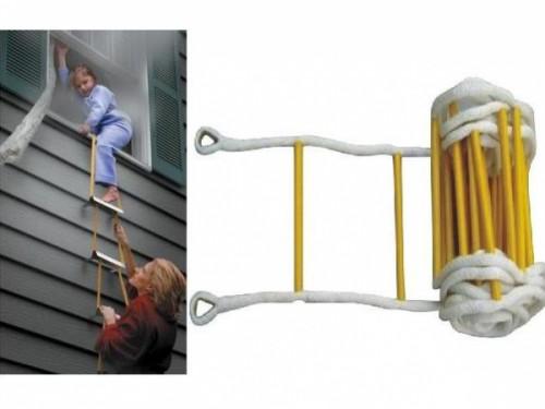 Những lưu ý khi sử dụng thang dây thoát hiểm nhà cao tầng