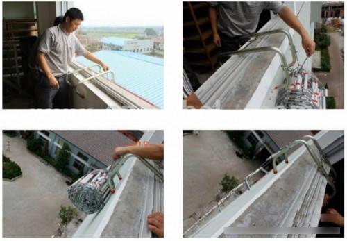 Sử dụng thang dây thoát hiểm làm sao cho đúng và an toàn