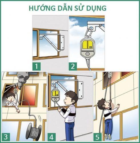 Hướng dẫn cách sử dụng thang dây thoát hiểm chỉ với 5 bước đơn giản